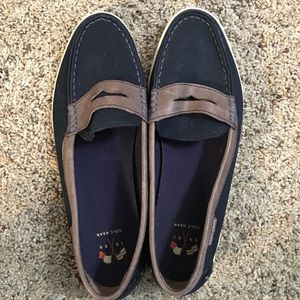 Cole Haan Navy Canvas Loafers - Size 8